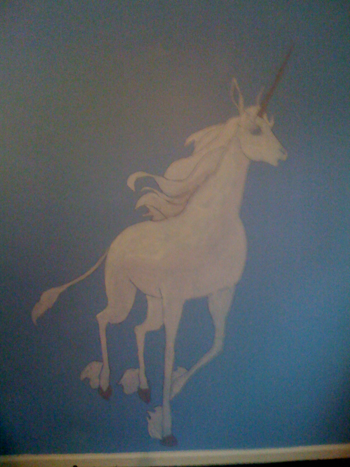 the last unicorn the fictorians when they were no longer babies and we had to paint over the unicorns