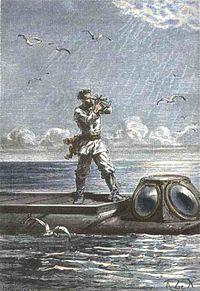 Captain Nemo on the Nautilus