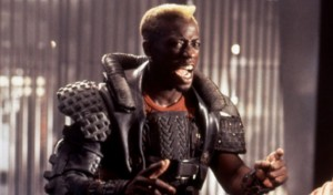 Wesley Snipes in Demolition Man, and also what he looks like going after drug dealers.