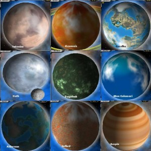 planets of Star Wars