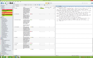 Screenshot Scrivener workspace