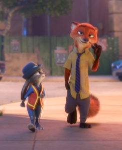 "RELUCTANT PARTNER -- Fast-talking, con-artist fox Nick Wilde is not really interested in helping rookie officer Judy Hopps crack her first case. Directed by Byron Howard and Rich Moore, and produced by Clark Spencer, Walt Disney Animation Studios' ""Zootopia"" opens in theaters on March 4, 2016. ?2016 Disney. All Rights Reserved."